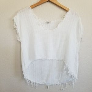 Urban Outfitters Ecote High Low Cropped Top M